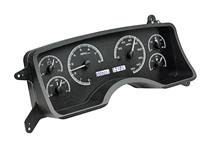 Mustang Dakota Digital VHX Digital Instrument Cluster  - Black Alloy, White Backlighting (90-93)