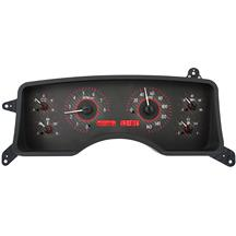 Mustang Dakota Digital VHX Digital Instrument Cluster  - Carbon Face/Red Backlighting (90-93)