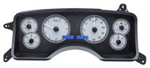 Mustang Dakota Digital VHX Digital Instrument Cluster  - Alloy Face/Blue Backlighting (90-93)