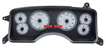 Mustang Digital Instrument Cluster Alloy Satin Face/ Red Backlighting (90-93)