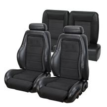 Mustang TMI 03-04 Cobra Seat Upholstery w/ Seat Foam Black Vinyl/Suede (92-93) Coupe