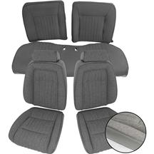 Mustang TMI Sport Seat Upholstery Opal Gray Cloth (1993) Coupe