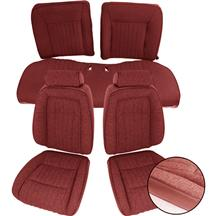 Mustang TMI Sport Seat Upholstery - Cloth Ruby Red (1993) Coupe