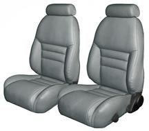 Mustang TMI Sport Seat Upholstery Opal Gray Leather (94-95) Coupe