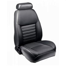 Mustang TMI Front Sport Seat Upholstery Dark Charcoal Leather (99-04)