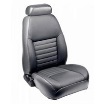 Mustang TMI Front Sport Seat Upholstery Medium Graphite Leather (99-04)