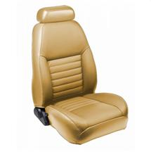 Mustang TMI Sport Seat Upholstery Parchment Tan Leather (99-04) Coupe
