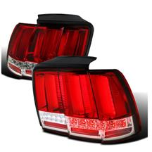 Mustang Sequential S550 Style Tail Lights  - Red (99-04)
