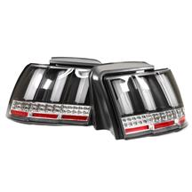 Mustang Sequential S550 Style Tail Lights  - Black (99-04)