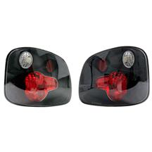 F-150 SVT Lightning Black Taillights with Clear Lenses  (01-04)