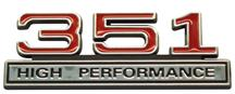 F-150 SVT Lightning 351 High Performance Emblem Red  (93-95)