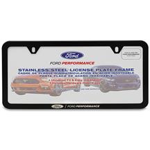 Ford Performance License Plate Frame - Slim  - Black Stainless Steel