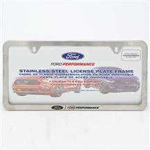Ford Performance License Plate Frame - Slim  - Stainless Steel