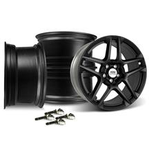Mustang Ford Performance SVT 19X9.5 5 Spoke Wheel Kit With TPMS  Satin Black (05-14)