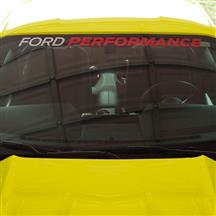 Mustang Ford Performance Windshield Banner  - White/Red (15-17)