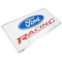 Mustang Ford Racing License Plate -  White (79-16)