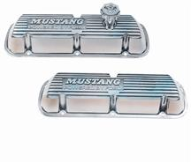 Mustang Ford Racing Valve Covers w/ Mustang Logo Polished (86-93) 5.0