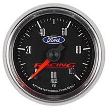 "Mustang Ford Racing Oil Pressure Gauge - 2 1/16"" - Stepper"