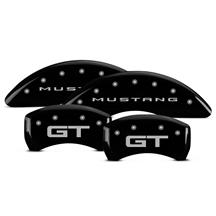 Mustang MGP Caliper Covers - Mustang/GT  - Black - 4 Piston (15-17)