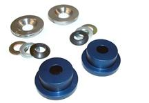 Mustang Maximum Motorsports  Aluminum Steering Rack Bushings, Stock K-Member (84-04)