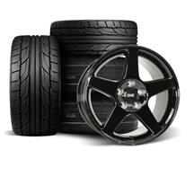 Mustang 2003 Cobra Wheel & Drag Radial Tire Kit  - 17x9/10.5 - Black (94-04) Nitto NT555 G2 / NT555R2