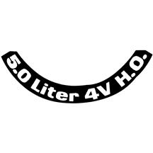 Mustang 5.0 4V Air Cleaner Decal (79-82)