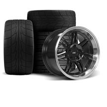 Mustang Anniversary Wheel & Drag Radial Tire Kit  - 17x9/10 - Black - NT555R (94-04)