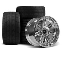 Mustang Anniversary Wheel & Drag Radial Tire Kit  - 17x9/10 - Chrome - NT555R (94-04)