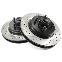 "Mustang C-Tek Front Brake Rotors - 11"" - 4 Lug  - Drilled & Slotted (87-93) 5.0"