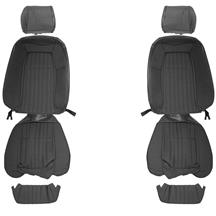 Mustang Acme Cloth Front Seat Upholstery - Sport Seats  - Smoke Gray (87-89)