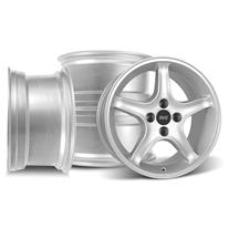 Mustang Cobra R Wheel Kit - 17x8 Silver (79-93)