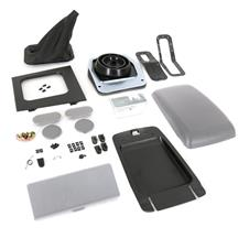Mustang Complete Console Resto Kit  - Smoke Gray - Manual (87-93)