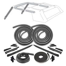 Mustang Convertible Top 19 Piece Weatherstrip Kit  - From 10/87 (88-89)