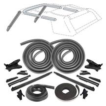 Mustang Convertible Top 21 Piece Weatherstrip Kit  - From 10/87 (88-89)