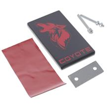 Mustang Coyote Emblem  - Black w/ Red (15-20)