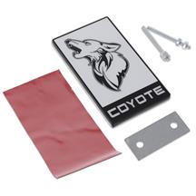 Mustang Coyote Emblem  - White w/ Black (15-20)