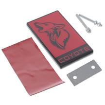 Mustang Coyote Emblem  - Red w/ Black (15-20)