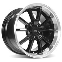 Mustang SVE FR500 Wheel - 17X10.5  - Black w/ Machined Lip (94-04)