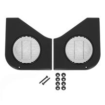 Mustang Door Speaker Grille Kit  - Black (87-93)