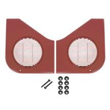 Mustang Door Speaker Grille Kit  - Scarlet Red (87-93)