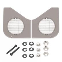 Mustang Door Speaker Grille Kit  - Titanium Gray (87-93)