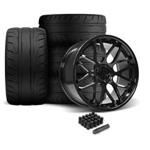 Mustang Downforce Wheel & Tire Kit - 20x8.5/10  - Gloss Black - NT05 Tires (05-14)