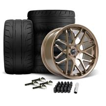 Mustang Downforce Wheel & Tire Kit - 20x8.5/10  - Satin Bronze (15-20)