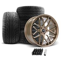Mustang Downforce Wheel & Tire Kit - 20x8.5/10  - Satin Bronze (05-14)