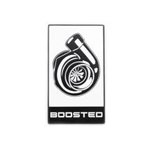 Mustang Boosted Decklid Emblem  - White w/ Black (15-18)