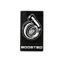 Mustang Boosted Grille Emblem  - Black w/ White (15-20)