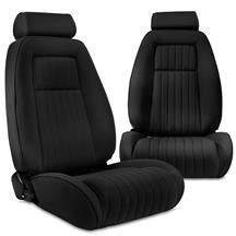 Mustang Factory Style Black Cloth Sport Seats (79-93)