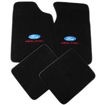 ACC Mustang Floor Mats w/ Ford Racing Logo Black  (79-93) 8886-801-207
