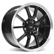 Mustang SVE FR500 Wheel - 17X9  - Black w/ Machined Lip (94-04)