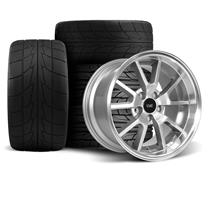 Mustang SVE FR500 Wheel & Drag Radial Tire Kit - 17x9/10.5  - Anthracite - Nitto Tires  (94-04)